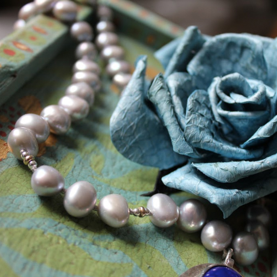 CREATIVE WORKSHOPS: pearls, paint & fishleather